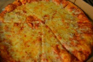 four cheese pizza at Broadway Pizza bar