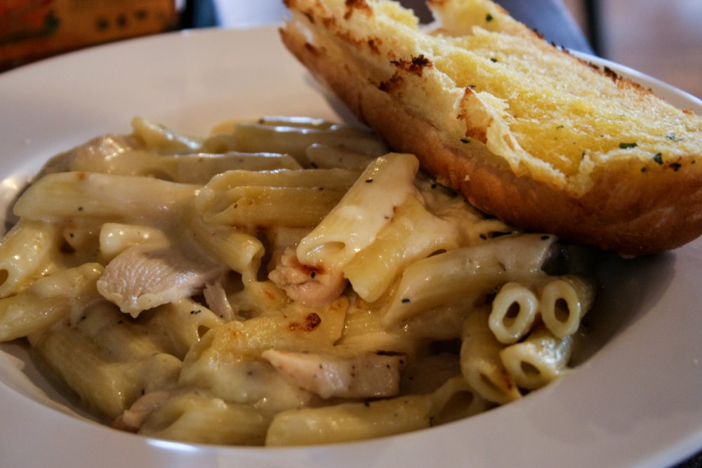broadway pizza bar penne alfredo with chicken