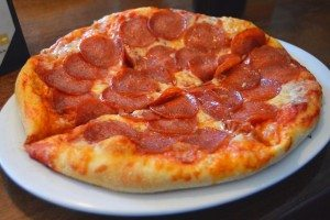 pepperoni lovers at broadway pizza bar